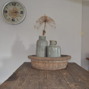 Oude houten olijfbak - ø 65 cm