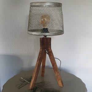 Stoere tafellamp - bruin