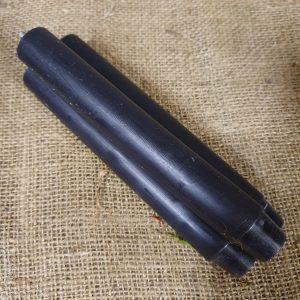Zwarte dinerkaarsen 18 cm - Rustik Lys