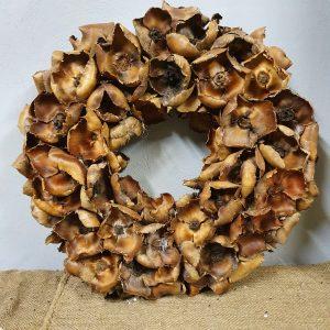 Krans 'palm cup' naturel - ∅ 50 cm