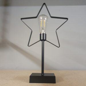 Zwart lampje 'ster'