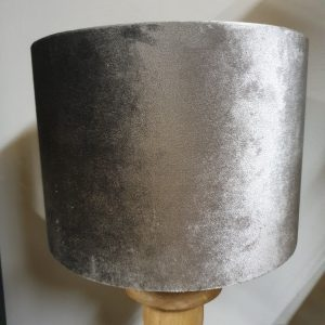 Velours cilinder lampenkap - Graphite