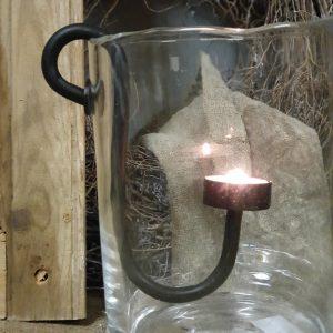 Metalen hangkandelaar voor waxinelichtje