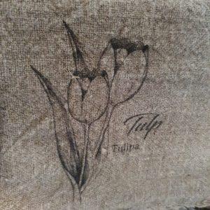 Shabby doekje - 'Tulp'