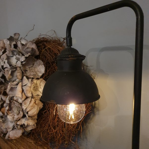 Tafellamp met klem - Antique zwart