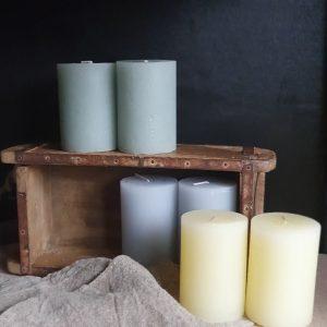 Blokkaars Rustik Lys – 10 x 7 cm – citrusgeel
