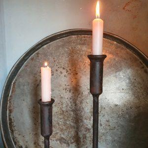 Stoere ijzeren kandelaar - 45 cm