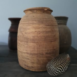 Houten Nepalese kruik