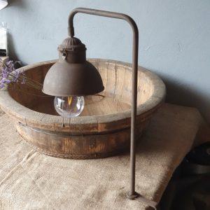 Tafellamp met klem - roestbruin