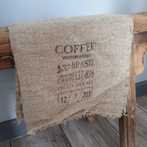 Shabby doekje 'Coffee'